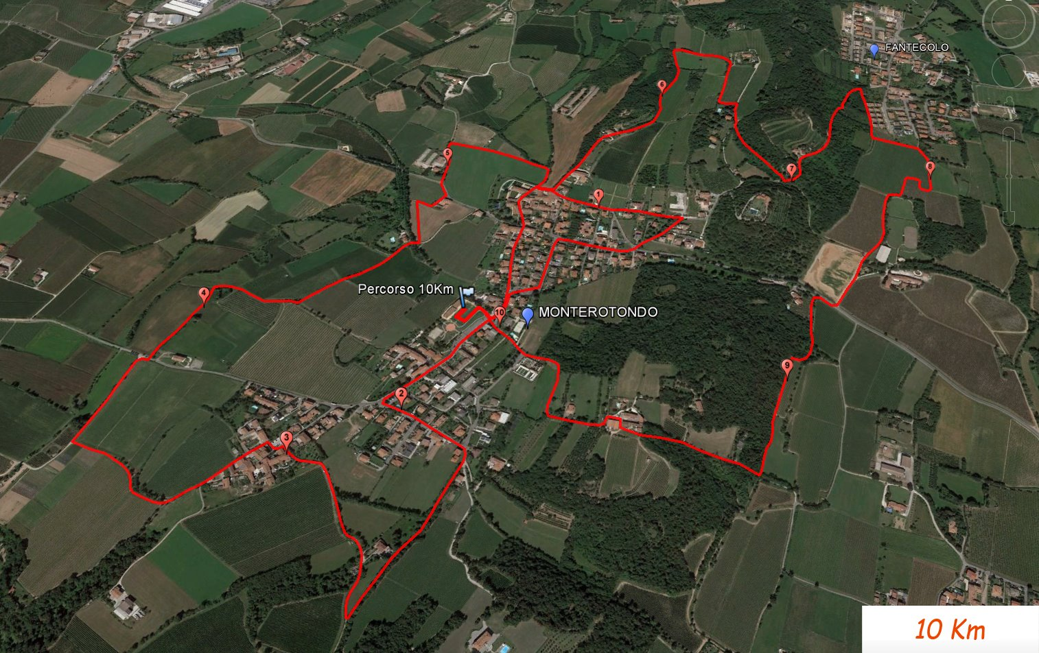Contry Run 3 Colline - percorso 10 Km